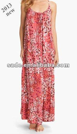 2013 nouvelles dames coton robe / femmes robe / accueil long robe pour lady