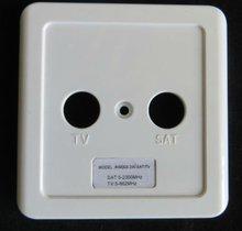 Nuevo diseño de tv/fm/sat de televisión por cable de enchufe de pared/toma de pared accesorios ( cubierta de plástico )