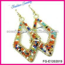 Newest fashion seed bead earrings 2012