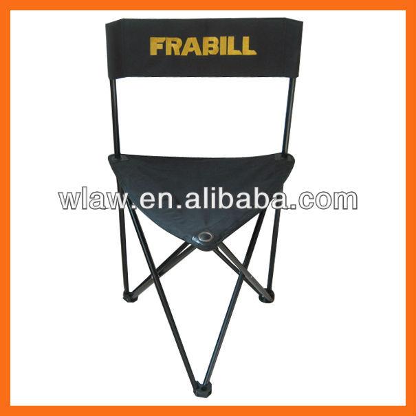 Armless folding fishing chair with handle bag
