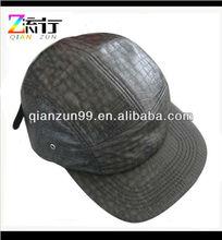 custom Tortoise skin leather 5 panel hat
