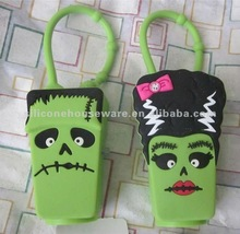 2 Bath & Body Works FRANKENSTEIN & WIFE Halloween Pocketbac Holder Keychain