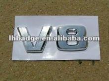 V8 chrome letter emblem car badge sticker 3D logo