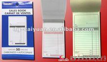 Carbonless copy paper book