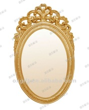 Yiwu yalun factory gold PU frame with mirror for house decoration