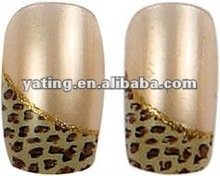 finger nail products with customer design printing / Cosmetics beauty nails / Panther print finger nail A