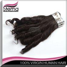 Grade AAAA virgin candy curl brazilian hair weave