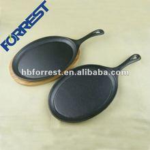 Vegetable oil seasoned Cast Iron Serving griddle