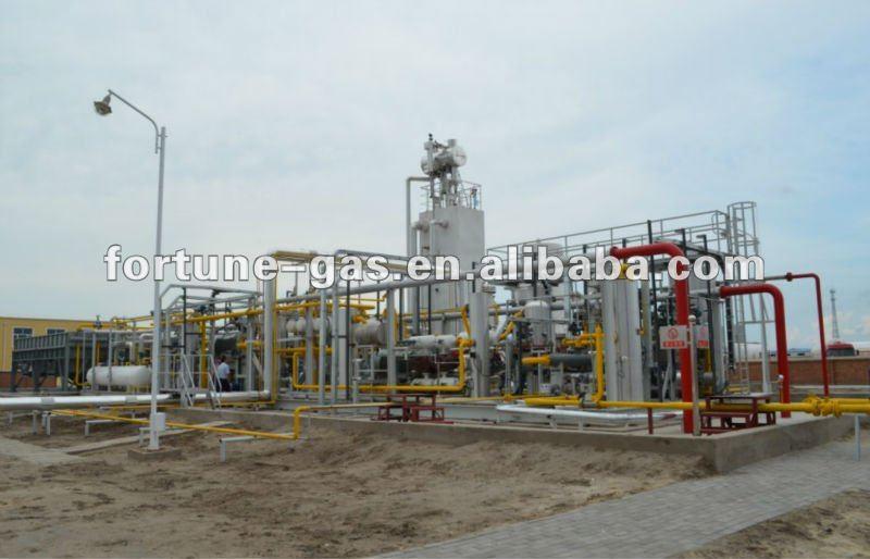 小規模の液化天然ガスシステム