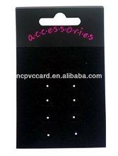 Black Velvet Custom Earring Display Card