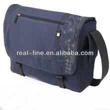 Blue Canvas Laptop Messenger Bag