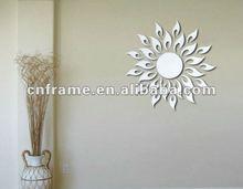 beautiful PS mirror sticker with sunshine shape KX-019
