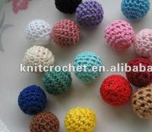 Hand Crochet Beads, Crochet Balls, Hand Knit Balls, knitted christmas balls (KCC-HCBDS006)