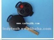 Benz Smart 3+1 buttons remote key blank no logo, key shell cover &auto key Benz