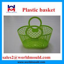 Handle plastic laundry basket