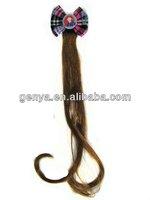 Fashion Children/kids Hair Extensions fake hair,hair ornament, hair accessory with flower