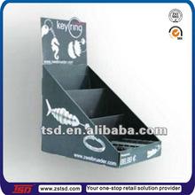 TSD-C428 key ring counter top cardboard display/key chain counter display/counter paper display box for retail