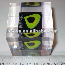 Clear Custom Cube Acrylic/Resin/Lucite Embeded Block