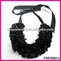 tessuto e nastro di raso nero offerta gioielli moda collana