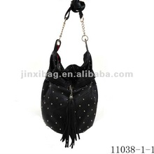 Fashion PU mosaic studded rivet shoulder bags for girls