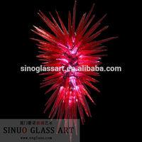 Red Blown Glass Modern Dining Room Lighting