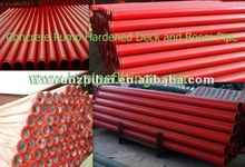 Welded ST52 pipe 3000mm, ID125-OD133mm, SK ends, Red primer painted