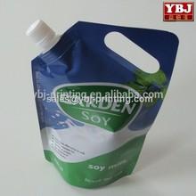 china guangzhou dongguan shenzhen cheap price soft milk liquid pouch with spout