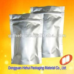 Reusable ziplock tea or other food aluminum foil bag