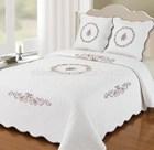 Embroidered Quilt Bedding set