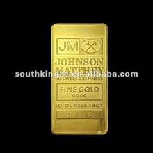 Johnson Matthey Gold Plated Bullion Bars