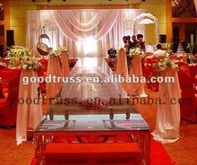 aluminum clear tempered glass decoration wedding stage