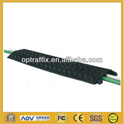 2 Channel Black Durable Rubber Drop Over Cable Cover