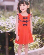 Children Summer dress, kids clothes girl's Casual Princess dress kids high ecotton wear