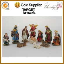 """11/S new hand carved nativity sets indoor christmas decorations 2.7"""""""