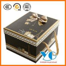 Black classical fashion gift box packing golden ribbon gift box