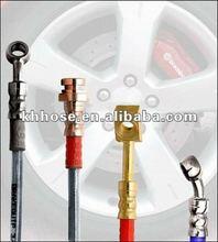 dot SAE J1401 colored stainless steel braided Teflon/PTFE/ Nylon vacuum brake hose for racing