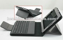 7 inch Tablet Pc Wireless Bluetooth Keyboard Leather Case for Samsung Galaxy P6200 P3100