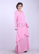 Ropa nacional W484 nueva hermosa rosa árabe diseño mujeres musulmanas kaftan