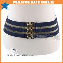 Fashion Wide Stripe Elastic Cinch Nurse Belt