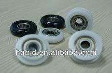 performance sliding shower wheels nylon / POM / PP / PVC 608 plastic shower wheels