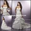 WDS3294 Pleated Strapless Floor Length Beaded New Wedding Dress