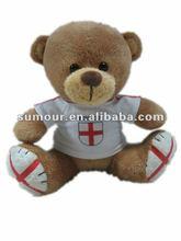 Cute Dressed Plush Teddy Bear With National Logo