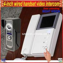 """4"""" TFT wired color handset video door intercom"""