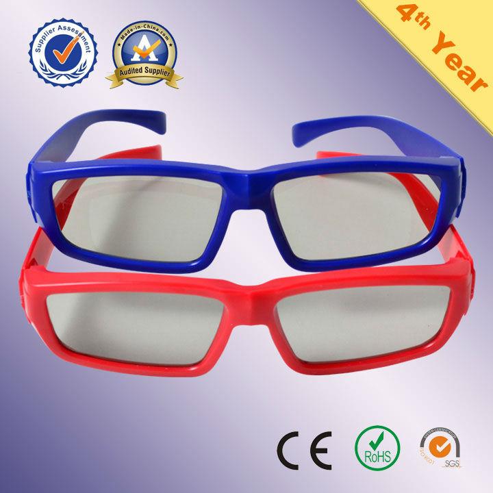 eco-friendly plastic polarized 3d eyeglasses