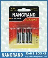 lr03 alkaline aaa dry cell battery