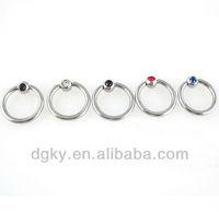 New designs diamond Ball Closure Rings industrial slave rings body piercing jewelry