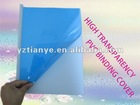 Non-stick high clear school hard plastic protective A4 file PVC book binding cover