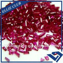 trapezoid cut 8# ruby gemstone wholesale