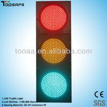 12VDC waterproof 200mm led flashing traffic lights with 3 full screen
