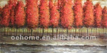Palm tree oil painting, handmade oil painting art in canvas